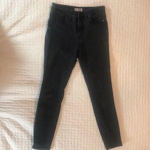 Madewell Highriser Black Skinny Jeans